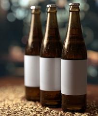 Obraz butelki trzy - fototapety do salonu