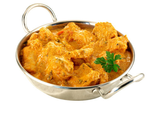 CHICKEN TIKKA BALTI CURRY          CLOSE UP FOOD IMAGE