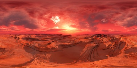 Mars, HDRI, environment map , Round panorama, spherical panorama, equidistant projection, 360 high resolution panorama