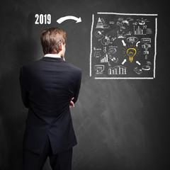 Geschäftsmann hat einen Plan für 2019