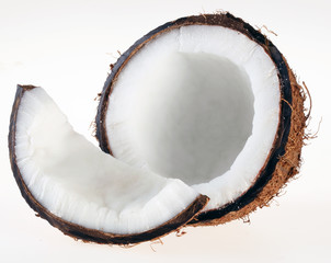 COCONUT ON WHITE  CLOSE UP FOOD IMAGE
