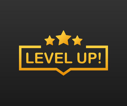 Game icon bonus. level up icon, new level logo. Vector illustration.