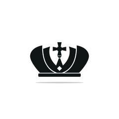 Crown icon. Vector illustration.