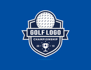 Golf logo template