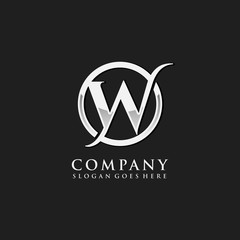 Letter W initial logo template
