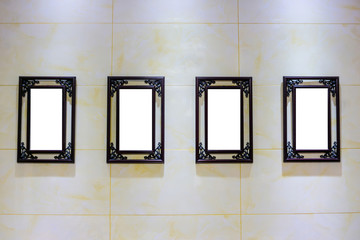 Four Blank Frames Advertisement