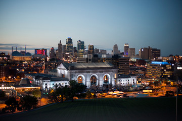 Kansas City Skyline at dusk