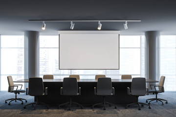 Office meeting room with poster