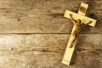 Jesus Christ crucified. Catholic symbol. Christian symbol. Easter holiday. Christ on the Cross.
