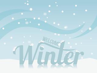 winter landscape design. Snow winter background. Vector Illustration. Season Nature. Winter Holiday.
