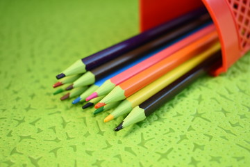 pencil,color,drawing,art,colorful,school,red,green,blue,yellow,wood,orange.