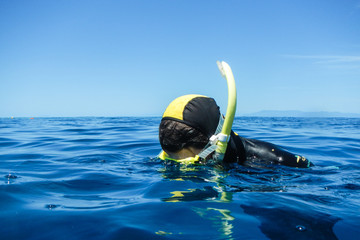Man Snorkeling at Surface