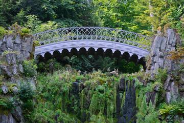 Teufelsbrücke, Bergpark Wilhelmshöhe, Kassel, Hessen Deutschland