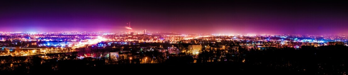 City panorama at night
