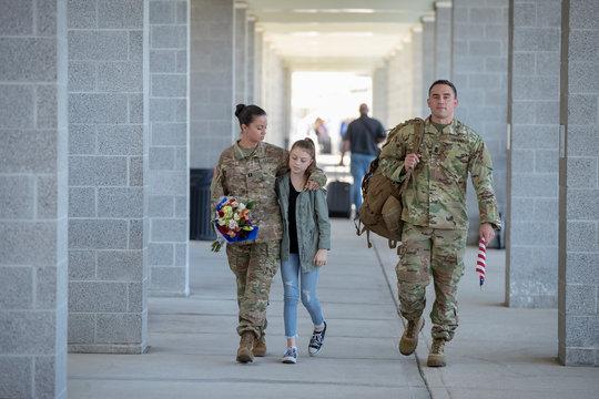 Daughter reunites with her parents