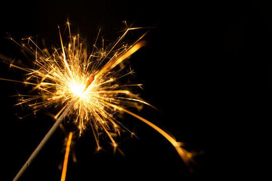 Silvester Wunderkerze Feuerwerk Funken brennen leuchten