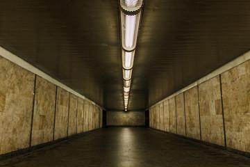 Cityscape underground lamp