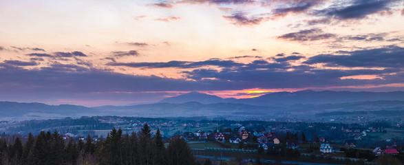 Horizontal panorama of the city