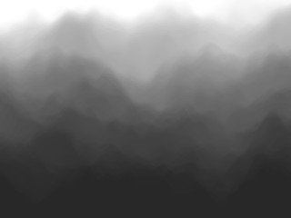 Black abstract background. Fog or smoke effect. Black clouds of mist. EPS10, vector illustration.