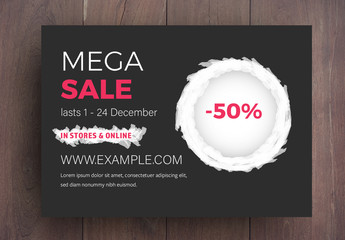 Sale Card Layout with Red Accents