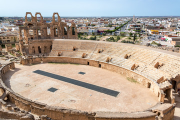 El Jem Amphitheater from Above