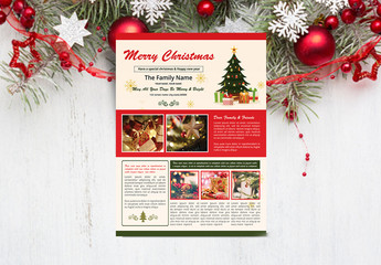 Christmas Themed Newsletter Layout