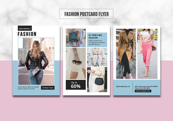 Fashion Postcard Flyer Layout