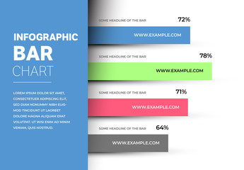 Infographic Layout With Horizontal Bar Graph