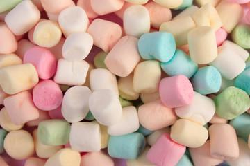 Mini colourful marshmallows