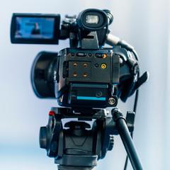 Media Event. Camera Recording Speech