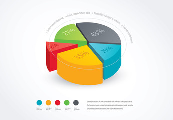 Pie Chart stock graphic design and motion graphic templates