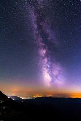 Milky way above Ranca, Romania