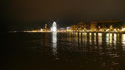 Lungomare di Bari. Veduta notturna