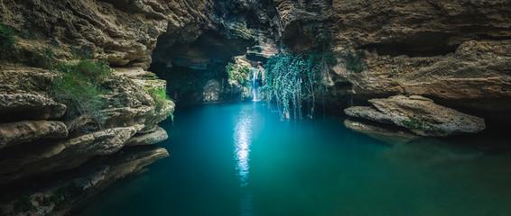Beautiful panoramic photograph in the Salto del Usero in Bullas, Murcia