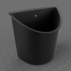 Wall mount plastic penholder