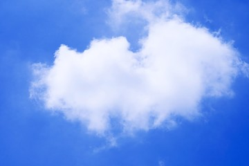 White cloud in the blue sky.