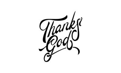 thanks god lettering