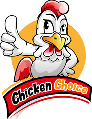 Vector illustration, chicken mascot for a fast food fried chicken restorant business.