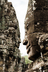 Faces of Siem Reap's Bayon Temple
