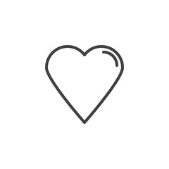 Favorite, heart outline icon. linear style sign for mobile concept and web design. Rate heart simple line vector icon. Symbol, logo illustration. Pixel perfect vector graphics