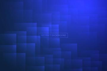 Abstract geometric rectangle shape background. Modern deep blue light background design. EPS10 Vector.
