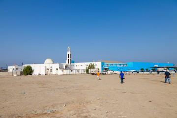 Fish Market Mosque nearby Balad (Shopping area) in Jeddah, Saudi Arabia