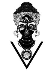 African voodoo woman