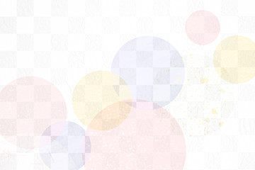 和紙と市松模様の背景素材(パステルカラー)