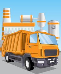 Recycling trash. Vector illustration.