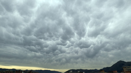 Mammatus over the Palermo