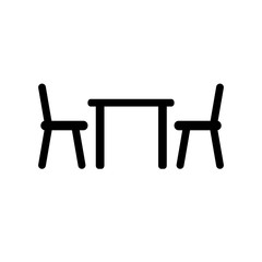 table chair vector icon