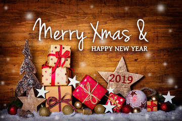 Merry Christmas and happy new year 2019  -  Greeting Card