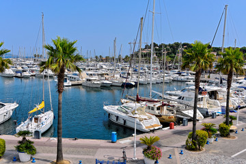Port of Cavalaire-sur-Mer, commune in the Var department in the Provence-Alpes-French Riviera (Côte d'Azur) region in southeastern France.