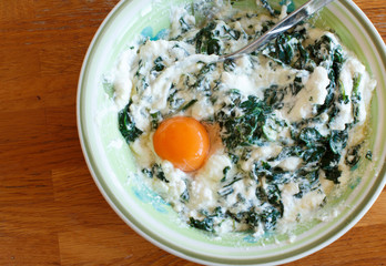 Ricotta cheese and spinach